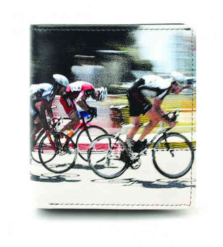 Golunski Cycle Race Design Leather Tri-Fold Wallet