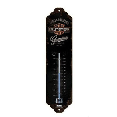 Harley Davidson Genuine Logo Metal Thermometer