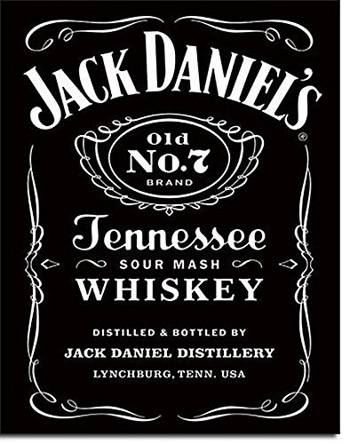 Jack daniels tennessee whiskey logo design large metal sign 32 x jack daniels tennessee whiskey logo design large metal sign 32 x 41cm voltagebd Gallery