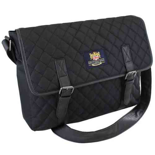 British Bag Company Regent Collection Quilted Messenger Bag