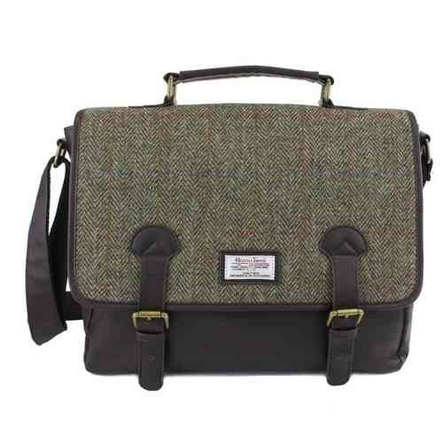 British Bag Company Hunter Range Harris Tweed Check Briefcase/Satchel