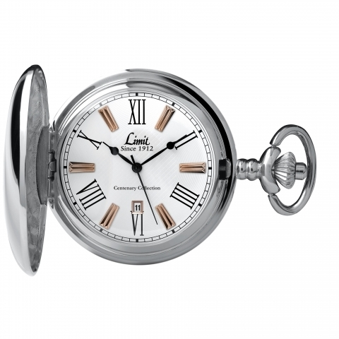 Limit 5892.90 Centenary Collection Silver Coloured Pocket Watch