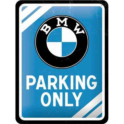 BMW Parking Only Metal Sign 15 x 20cm