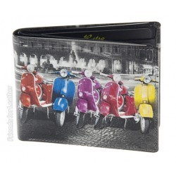 Golunski Vespa Scooters Design Leather Bi-Fold Wallet