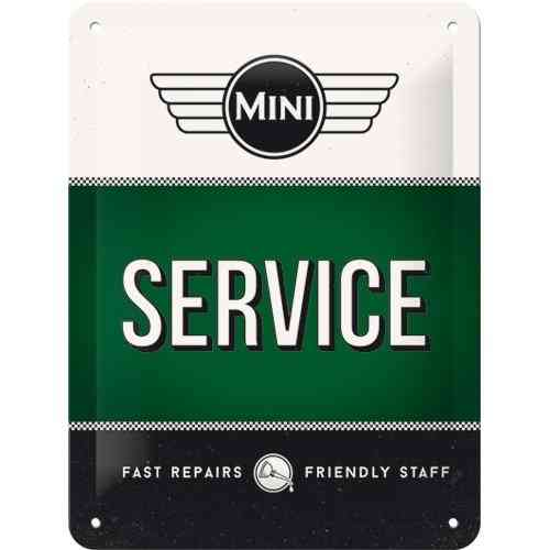 Mini Service Metal Sign 15 x 20cm