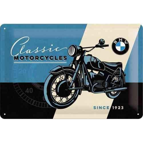 BMW Classic Motorcycles Metal Sign 20 x 30cm
