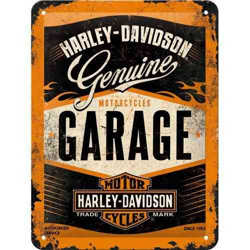 Harley Davidson Garage Metal Sign 15 x 20cm