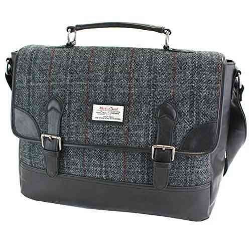 British Bag Company Berneray Tartan Harris Tweed Briefcase/Satchel