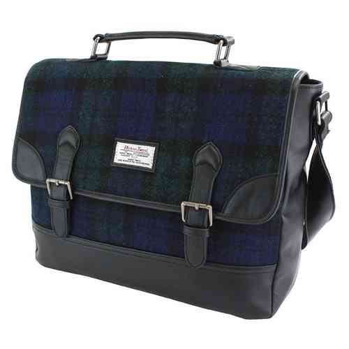 British Bag Company Black Watch Tartan Harris Tweed Briefcase/Satchel