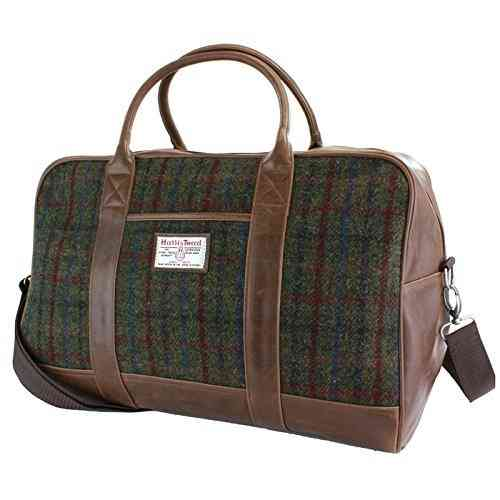 British Bag Company Brenais Tartan Harris Tweed Holdall