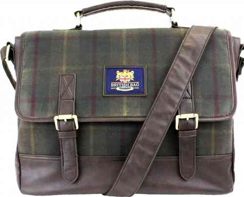 British Bag Company Highlander Range Millerain Waxed Cotton Briefcase/Satchel