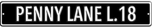 The Beatles Penny Lane Black Heavy Duty Steel Outdoor Metal Sign 91 x 15cm