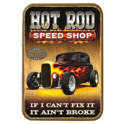 Hot Rod Ford Car Keepsake Metal Tin 11 x 8 x 2cm