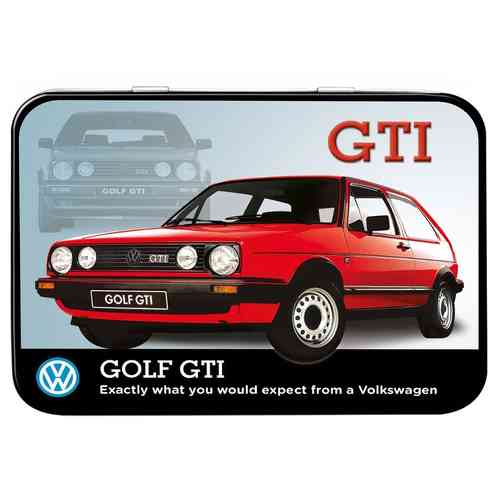 VW Golf GTI Keepsake Metal Tin 11 x 8 x 2cm