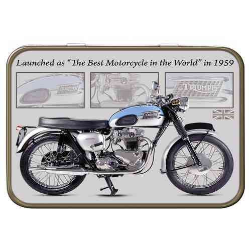 Triumph Bonneville Keepsake Metal Tin 11 x 8 x 2cm