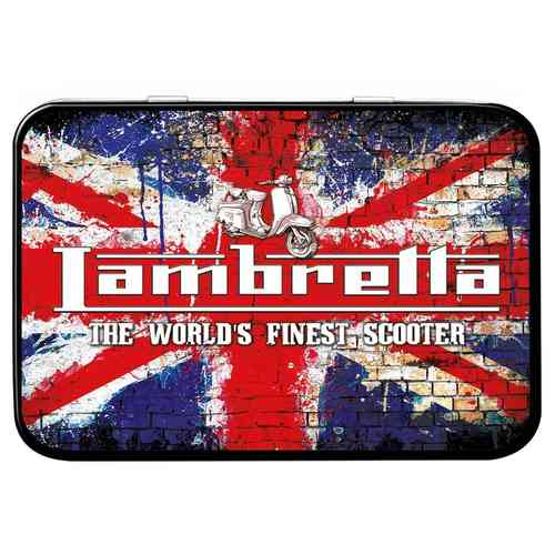 Lambretta Grunge Flag Keepsake Metal Tin 11 x 8 x 2cm