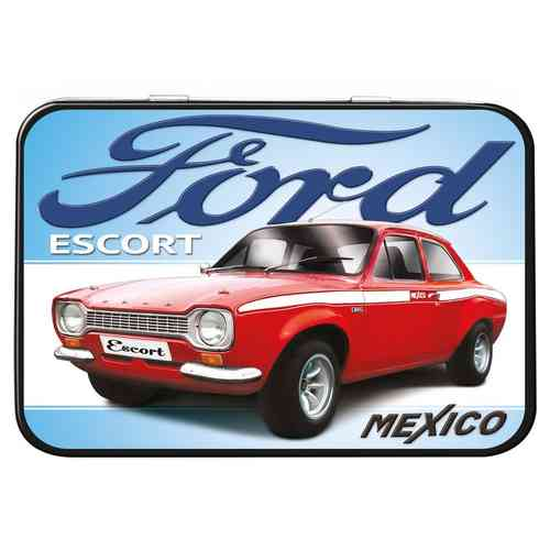 Ford Escort Mexico Keepsake Metal Tin 11 x 8 x 2cm