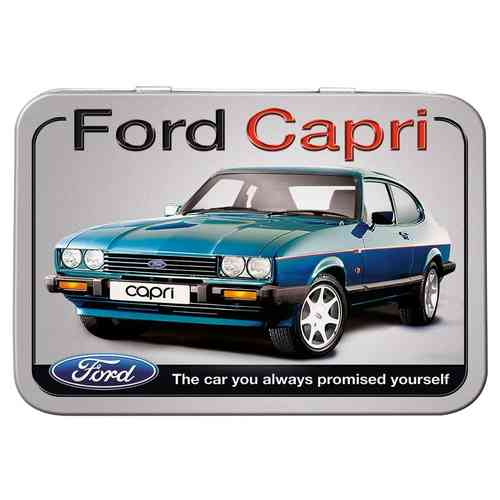 Ford Capri Keepsake Metal Tin 11 x 8 x 2cm