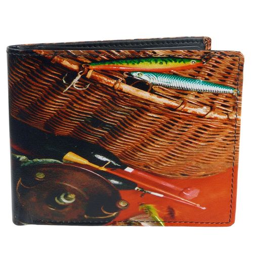 Golunski Fishing Tackle Design Leather Bi-Fold Wallet