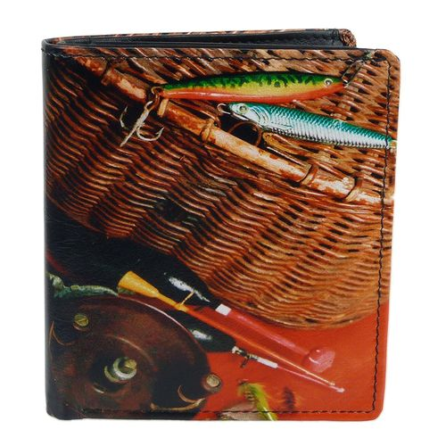 Golunski Fishing Tackle Design Leather Tri-Fold Wallet