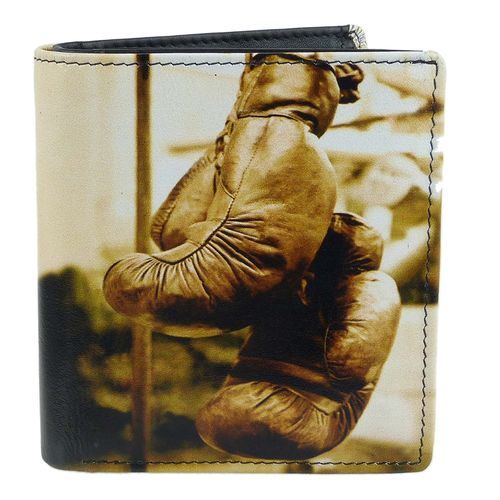 Golunski Boxing Gloves Design Leather Tri-Fold Wallet
