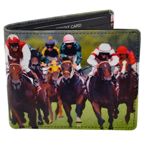 Golunski Horse Racing Design Leather Bi-Fold Wallet