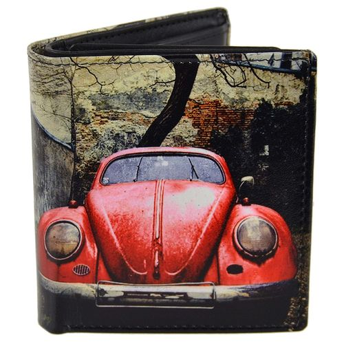 Golunski VW Beetle Design Leather Tri-Fold Wallet