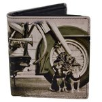 Golunski Dogs And Motorbike Design Leather Tri-Fold Wallet