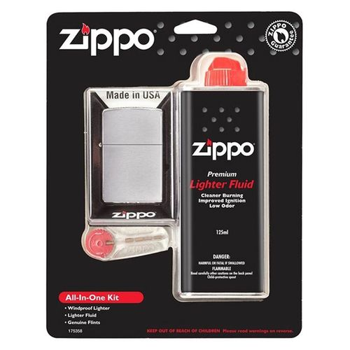 Zippo All In One Kit With Windproof Lighter