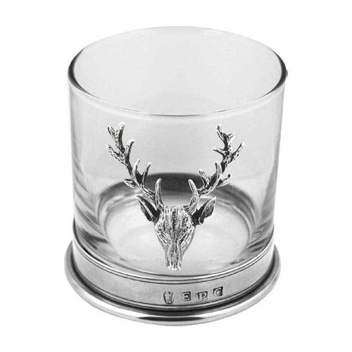 English Pewter Company Stag Single Tumbler Glass