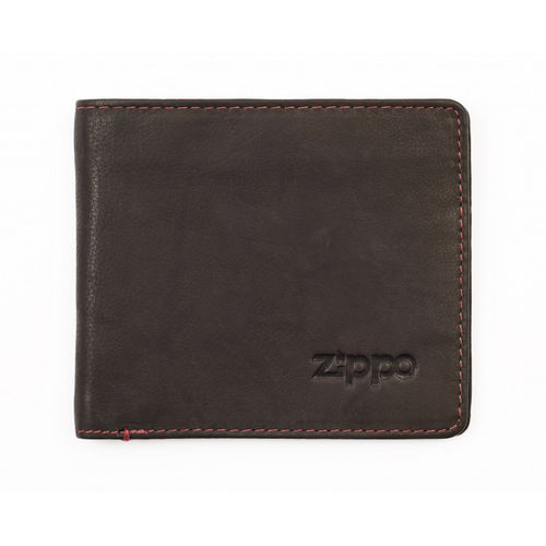 Zippo Mocha Leather Bi-Fold Wallet With Coin Pocket