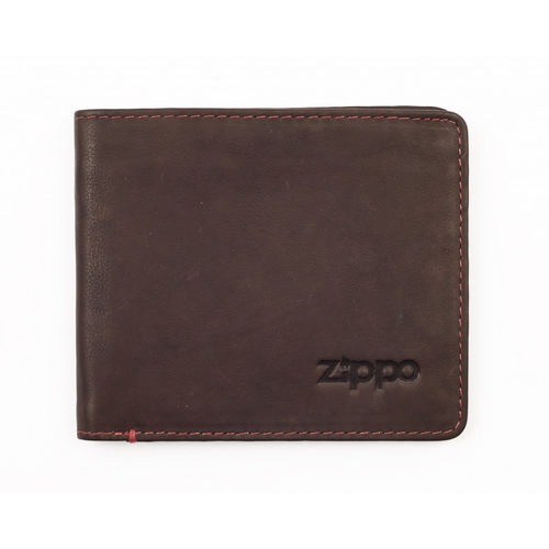 Zippo Brown Leather Bi-Fold Wallet With Coin Pocket