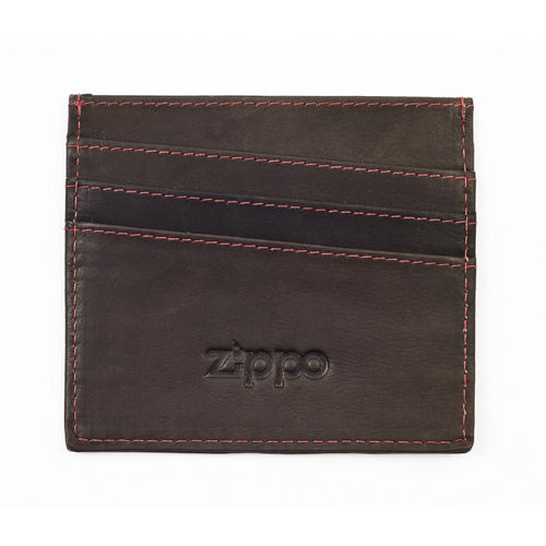 Zippo Mocha Leather Credit Card Holder