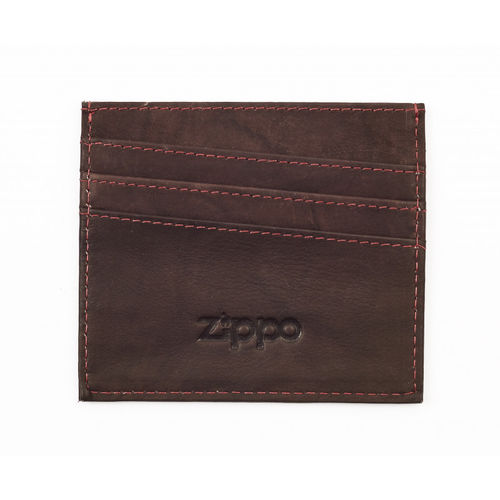 Zippo Brown Leather Credit Card Holder