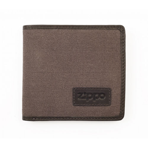Zippo Mocha Leather And Canvas Wallet