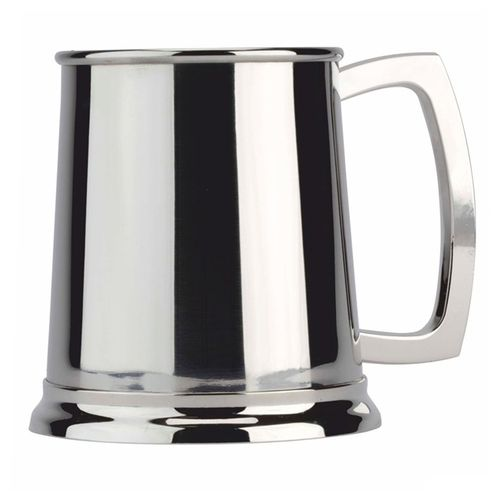 Stainless Steel 1 Pint Plain Tankard With FREE ENGRAVING