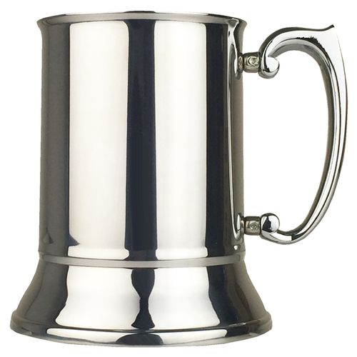 Stainless Steel 1 Pint Plain Slim Tankard With FREE ENGRAVING