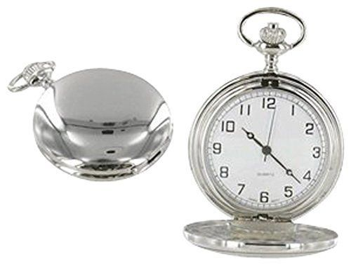 Full Hunter Silver Colour White Dial Pocket Watch