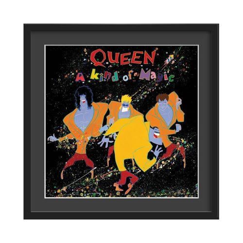 Queen Large Glazed Framed Authentic Album Art