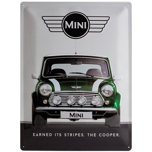 Mini Cooper Large Metal Sign 30 x 40cm