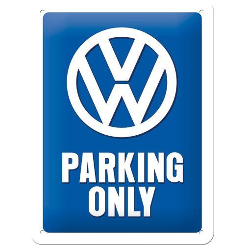 VW Parking Only Metal Sign 15 x 20cm