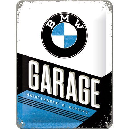 BMW Garage Metal Sign 15 x 20cm