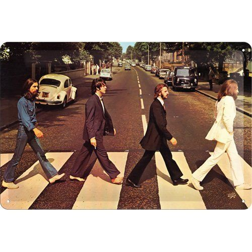 The Beatles Abbey Road Metal Sign 20 x 30cm