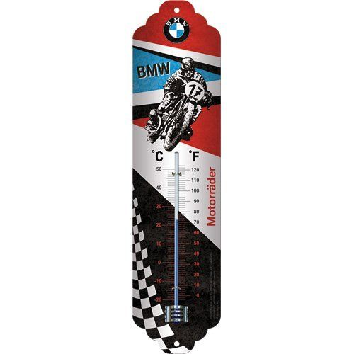 BMW Motorcycle Metal Thermometer
