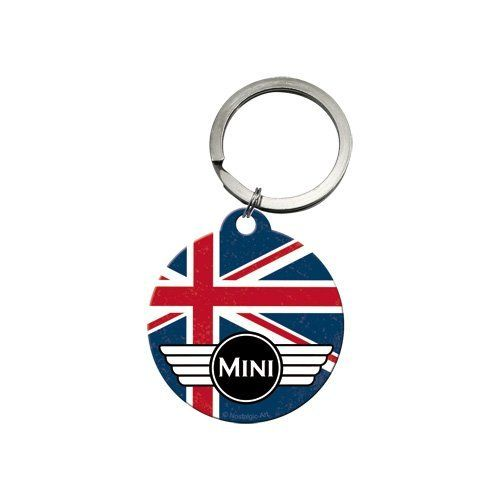 Mini Union Jack Metal Keyring With Back Print