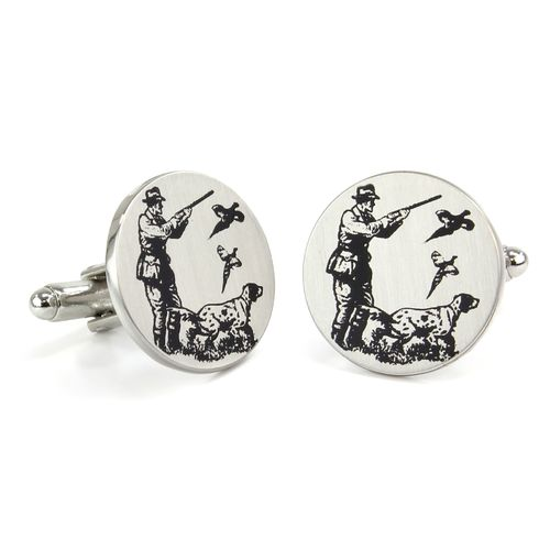 Mag Mouch Shooting Scene Print Cufflinks