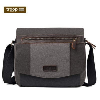 Troop London Urban Nylon Messenger Bag In Grey