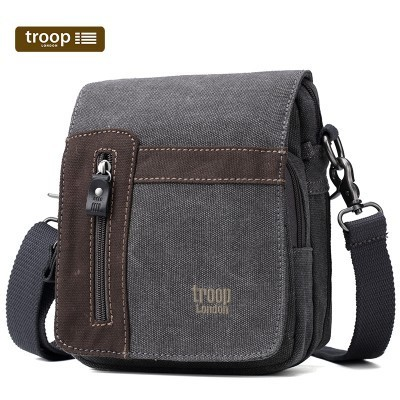 Troop London Classic Canvas Across The Body Bag In Black
