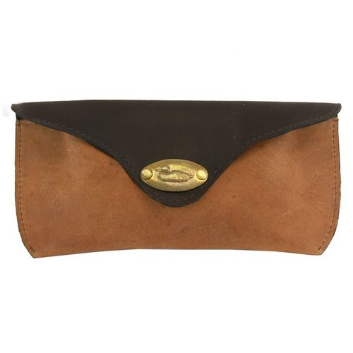 British Bag Company Duck Plate Leather Glasses Case