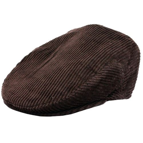 Brown Corduroy Flat Cap In Small, Medium, Large, Extra Large